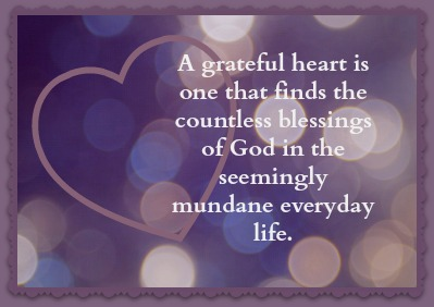 constantly grateful heart