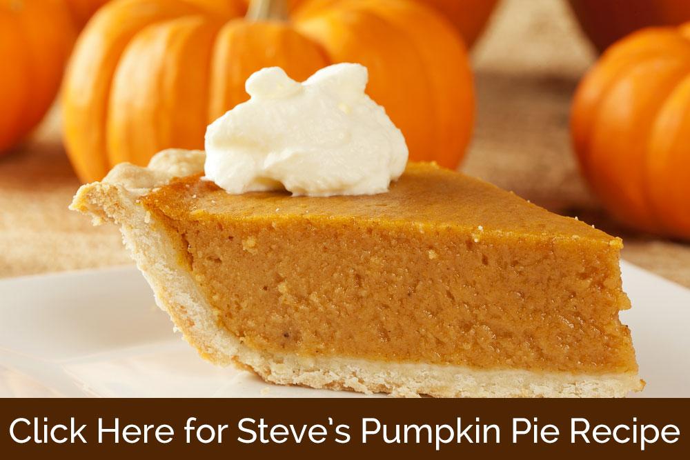 Steve Arterburn Pumpkin Pie Recipe