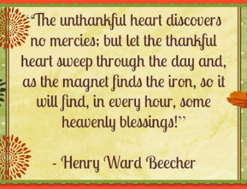 Giving Thanks – Day 8