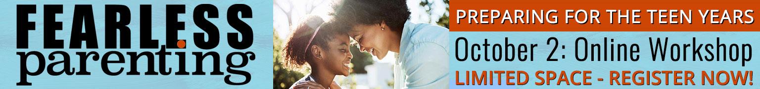 Fearless Parenting workshop online October 2