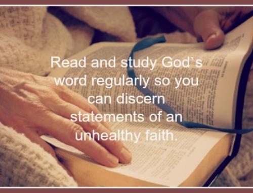Unhealthy Faith